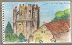 Abadía de Lagrasse Lápices acuarelables