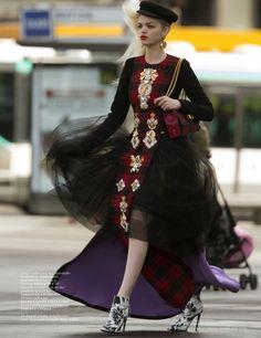 Daphne Groeneveld for Vogue Netherlands October 2013 by Hans Feurer