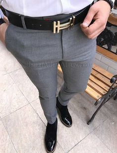 Michail score slim fit likralı kışlık gri erkek kumaş pantolon T1795 Latest Mens Fashion, Mens Fashion Suits, Fashion Pants, Mens Suits, Classy Suits, Classy Casual, Men Casual, Men Trousers, Pant Shirt