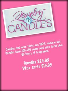 Jewelry in Candles  https://www.jewelryincandles.com/store/amy_gray