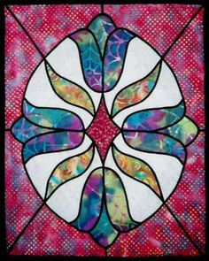1000+ images about Stained glass quilts on Pinterest Stained glass quilt, Stained glass and ...