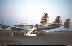 Lockheed L-049E Constellation N2740A (cn 1975) Arrival at Rochester. Note the well dressed passengers. Photo taken in 1960