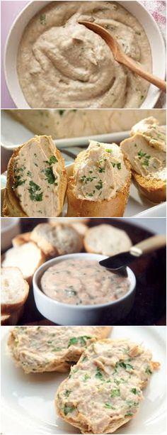 GENTE ESSE PATÊ DE ATUM É MARAVILHOSO E MUITO FÁCIL DE FAZER!! VEJA AQUI>>>Coloque o pão de molho no leite, adicione aqui a água das latinhas do atum Refogue as verduras e o atum no azeite  #PATÊ#ATUM#