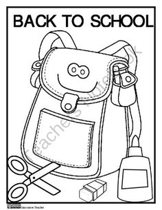 Back to school activities FREE back to school coloring book