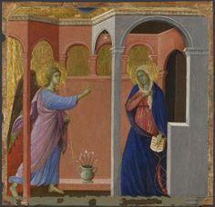 Duccio, The Annunciation, 1307/8-11, one of the Maesta Predella Panels, National Gallery, London