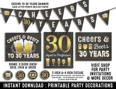 Image result for cheers to 30 years sign