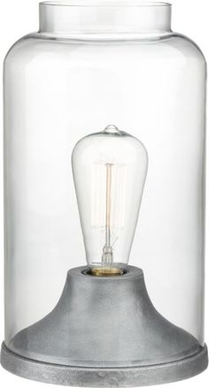 cloche table lamp in new lighting | CB2