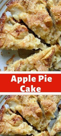 Apple Pie Cake, Apple Cake Recipes, Cake Mix Recipes, Fruit Recipes, Brunch Recipes, Sweet Recipes, Baking Recipes, Dessert Recipes, Easy Desserts