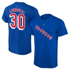 New York Rangers Henrik Lundqvist Name and Number T-Shirt - Kids: Reebok New York Rangers Henrik… #Sport #Football #Rugby #IceHockey