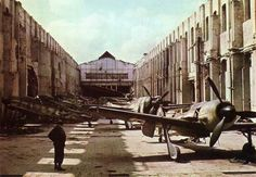 Fw-190`s ready for takeof , - only problem ... - there was no german`s left , that could take them to the air ... ca. 1945 .