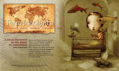 Advertentie Terra Incognita in combinatie met een artwork van Nicoletta Ceccoli