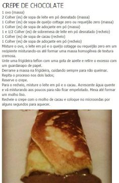 Crepe de chocolate Dukan