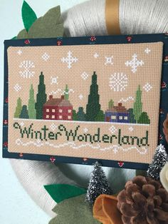 This pattern is perfect for your home from Christmas and beyond! This listing is for the Winter Wonderland pattern in two different color ways: bright and primitive. You get both sets of charts and color keys and you can choose which one you want to stitch or stitch them both! My