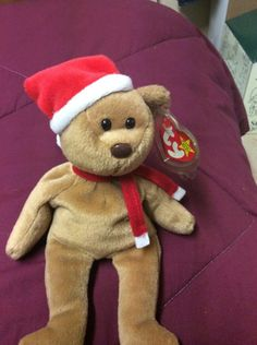 TY 1997 Christmas Teddy Beanie Baby 89b8708bd3ea