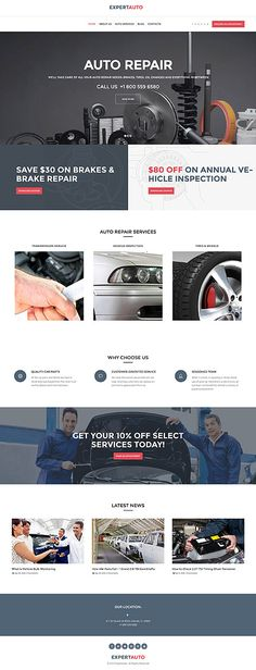 Auto Repair & Car Parts #Wordpress #template. #themes #business #responsive #Wordpressthemes
