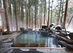 Another example of a pool / spa blending into the environment.Satonoyu Ryokan, Kurokawa Onsen Area, Kumamoto-ken (Kyushu) - Absolutely inviting, comfortable and well taken care of; stunning outdoor onsens await you here!