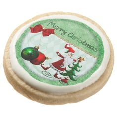Classic Whimsey Merry Christmas Santa Cookies