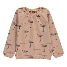 Silke Pink Flamingos Sweatshirt Dusty Pink  Soft Gallery