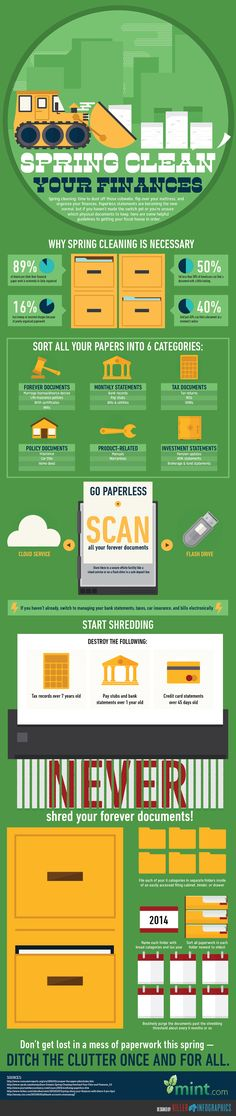 Spring Clean Your Finances - Killer Infographics