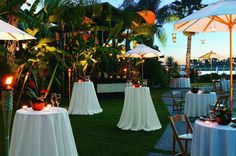 Awesome tropical wedding reception at Paradise Point Resort and Spa! San Diego Resorts and Hotels - ResortsandLodges.com #travel #wedding #destination