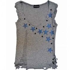 Shine like a star! 'Rags Rock' T-shirt by Maria Patelis Rock T Shirts, Stars, Fashion, Moda, Fashion Styles, Sterne, Fashion Illustrations, Star