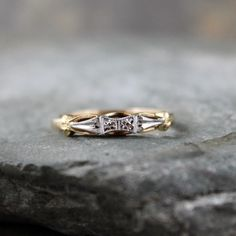 Vintage Wedding Band  14K /18K Gold  Circa 1960's  by ASecondTime, $450.00