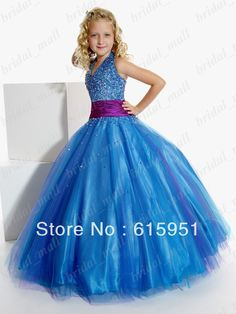 Natural Pageant Dress for Girls Junior Pageant Dress Blue Purple two tones Little Girl's Dress Flower Girl Dresses from Apparel & A. Cheap Flower Girl Dresses, Little Girl Dresses, Pretty Dresses, Blue Dresses, Girls Dresses, Dress Girl, Junior Pageant Dresses, Pagent Dresses, Pageant Gowns