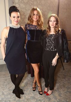 Girls' night out! Millie and Rosie were joined by close pal, TV chef Gizzi Erskine, at the Takeaway Awards Millie Mackintosh, Tv Chefs, Blue Velvet Dress, Made In Chelsea, Girls Night Out, Vernon, Lbd, Put On, Restaurants