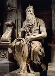 Michelangelo, Moses (detail of the tomb of Pope Julius II), 1513-15, San Pietro in Vincoli, Rome. Courtesy: San Pietro in Vincoli, Rome and Getty Images