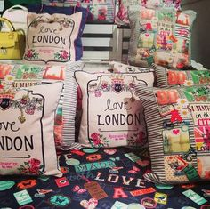 We LOVE London! #accessorizess14 #cushions #novelty #summer #behindthescenes #pressday #londoncushions