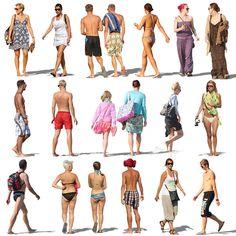 Texture psd resort people beach