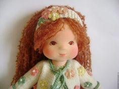 """Вальдорфская игрушка ручной работы. Флоретта - кукла вальдорфская 36 см и бельчонок Лёка. Морозова Наталия """"Кукольный мир"""". Ярмарка Мастеров."""