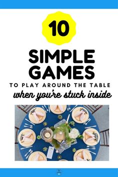 Are you stuck inside with your kids? Try out these 10 simple games you can play around the dinner table. Variations are given so that littles can join in the fun. Family Games To Play, Fun Group Games, Group Games For Kids, Board Games For Kids, Fun Games, Easy Games For Kids, Indoor Activities For Kids, Classroom Activities, Dinner Games