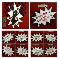 Cheerleading Locker Decorations. Locker decorations  this weeks Senior locker GO WILDCATS Cheer made using Cricut Explore Air and Paper