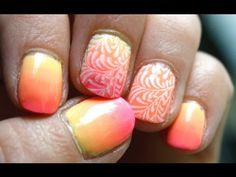 ▶ Dégradé de vernis #3 - Tuto Nail art - YouTube Nail Art Designs, Swirl Nail Art, Swirl Design, Perfect Nails, Cute Nails, Hair, Beautiful, Style, Manicure