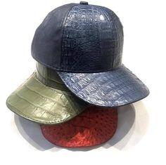 d612a92c932bd4 All-Over Handmade Crocodile & Ostrich Quill Strapback Hat Strapback Hats,  Crocodile, Quilling