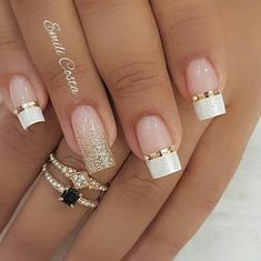 Exceptional French manicure for an elegant and stylish manicure - New Nail . - Exceptional French manicure for an elegant and stylish manicure – New Nail … - Gel Nails French, French Manicure Designs, Nail Art Designs, French Manicures, Nails Design, Glitter French Manicure, Glitter Nails, Elegant Nail Designs, French Nail Art