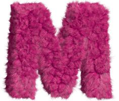 Pink-fur-font-letter-M