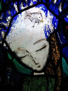 Martin Wills Memorial commission, detail (1995) - etched and painted stained glass.