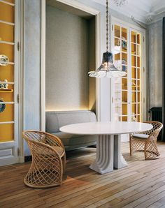 The design firm's 19th-century Paris apartment is injected with a dash of Surrealism.