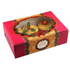 Cupcake Gift, Cupcake Boxes, Wedding Cupcakes, Mini Cupcakes, Beautiful Cupcakes, Christmas Cupcakes, Christmas Baking, Traditional Design, Decorative Boxes