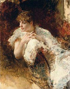 Telemaco Signorini Portrait of a lady, c. 1895