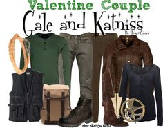 Inspired by Liam Hemsworth and Jennifer Lawrence as Gale Hawthorne and Katniss Everdeen in The Hunger Games.
