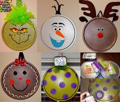 Pizza Pan Ornaments, DIY and Crafts, Pizza Pan Ornaments. Diy Christmas Ornaments, Homemade Christmas, Simple Christmas, Christmas Projects, Kids Christmas, Holiday Crafts, Christmas Decorations, Ornament Crafts, Ornaments Recipe
