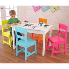 KidKraft Highlighter Table and Chair Set | Overstock.com Shopping - The Best Prices on KidKraft Kids' Furniture