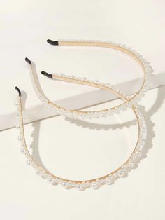 Shop [good_name] at ROMWE, discover more fashion styles online. Other Accessories, Fashion Accessories, Hair Accessories, Decor Pad, Hair Hoops, Pearl Headband, Romwe, Headbands, Gold Rings