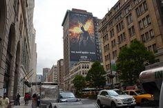 Impressive 150-Foot Tall Dark Knight Rises Mural