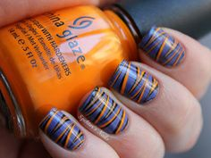 Today's Daily Nail Art is this striped design by spektorsnails. Nail Designs 2014, Marble Nail Designs, Simple Nail Designs, Love Nails, Pretty Nails, Fun Nails, Sassy Nails, Nail Art Stripes, Striped Nails