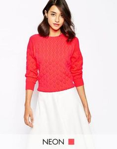 ted baker  gesteppter pullover  cremewei  #covetme