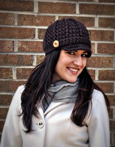 Free pattern for Newsboy crocheted cap